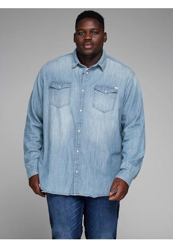 Jack & Jones Jeanshemd »SHERIDAN SHIRT«, bis Größe 6XL kaufen