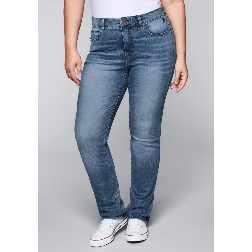 Sheego Gerade Jeans, mit Bodyforming-Effekt