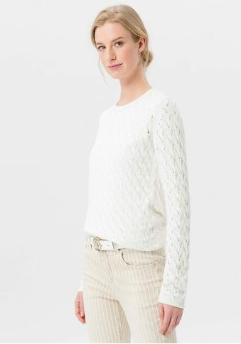 Uta Raasch Rundhalspullover »Rundhals-Pullover«, Cut-Out kaufen