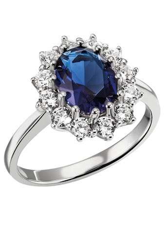 Firetti Fingerring »königliches Design, rhodiniert«, mit Zirkonia und einem Glasstein kaufen