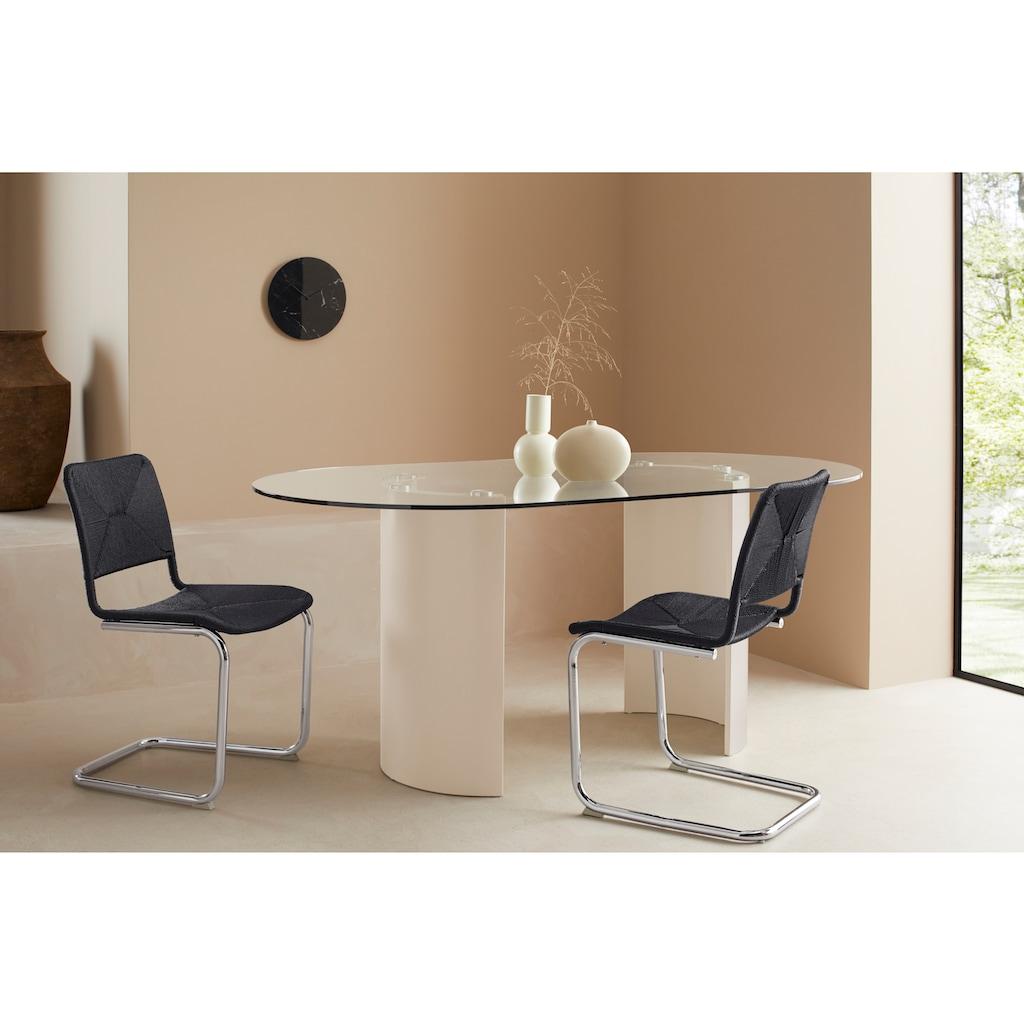 LeGer Home by Lena Gercke Freischwinger »Naomi«, 2er-Set, mit Sitz -und Rücken mit Geflecht