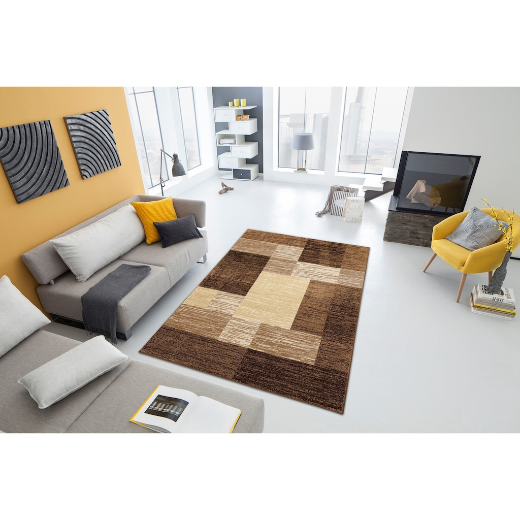 my home Teppich »Melvin«, rechteckig, 8 mm Höhe, schön weich, Wohnzimmer