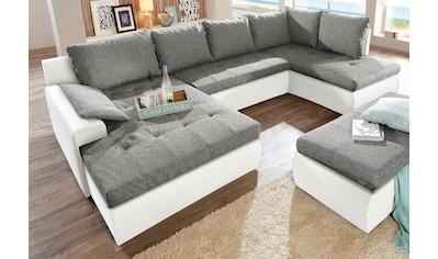 sit&more Wohnlandschaft, wahlweise in XL oder XXL, inklusive Bettfunktion und Bettkasten, frei im Raum stellbar kaufen