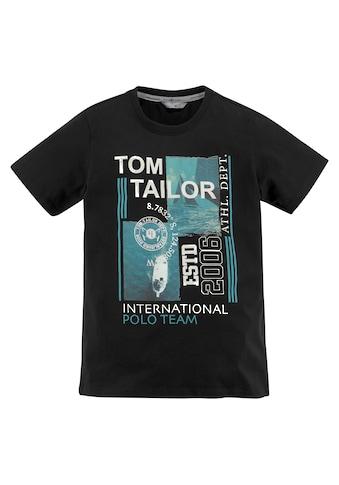 TOM TAILOR Polo Team T-Shirt »TEAM INTERNATIONAL« kaufen