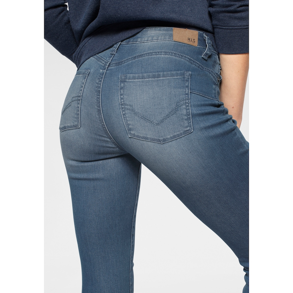 H.I.S Skinny-fit-Jeans »Shaping High-Waist mit Push-up Effekt«, Nachhaltige, wassersparende Produktion durch OZON WASH
