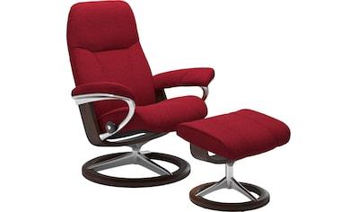 Stressless® Relaxsessel »Consul«, mit Hocker, mit Signature Base, Größe M, Gestell Braun kaufen