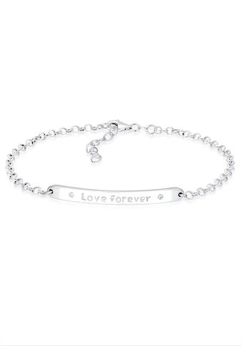 Elli Armband »Love forever Kristalle Sterling Silber« kaufen
