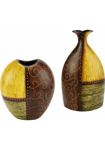 Home affaire Dekovase »Vase Keramik« (Set, 2 Stück) kaufen