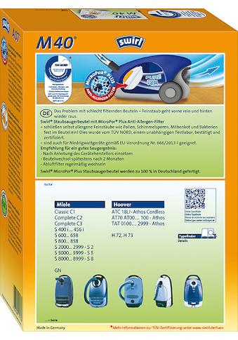 Swirl Staubsaugerbeutel »Swirl® M40 Staubsaugerbeutel für Miele und Hoover« kaufen