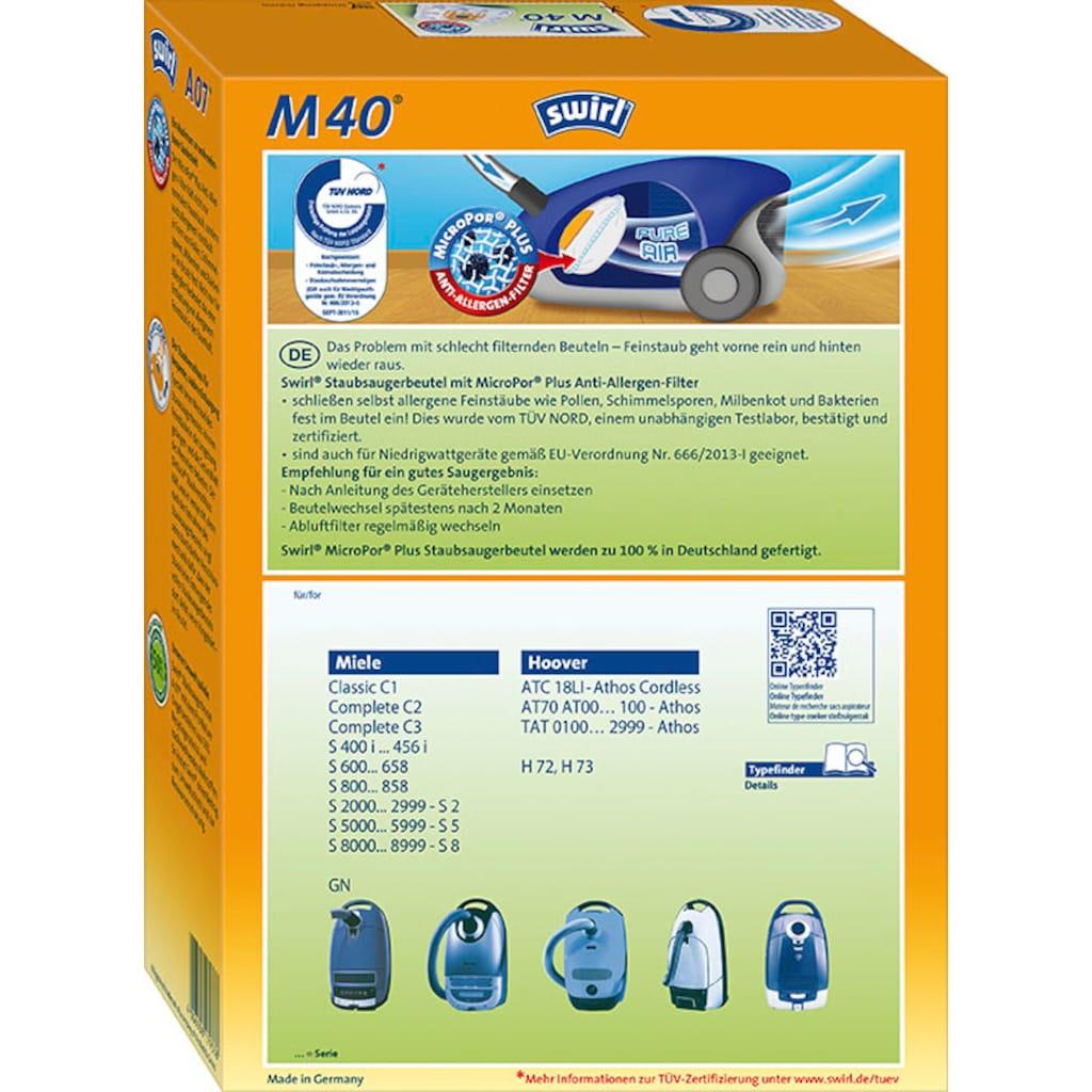 Swirl Staubsaugerbeutel »Swirl® M40 Staubsaugerbeutel für Miele und Hoover«, (Packung, 5 St.)