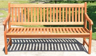 GARDEN PLEASURE Gartenbank »NEW JERSEY«, Eukalyptus, 158x90x68 cm, braun kaufen