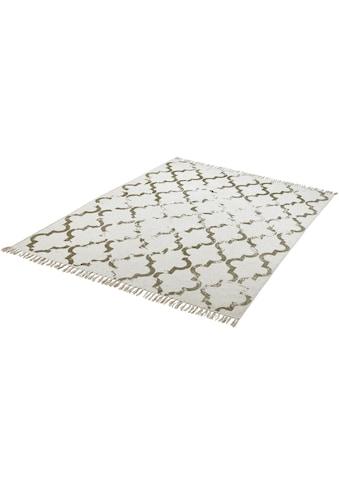 Obsession Teppich »My Stockholm 341«, rechteckig, 10 mm Höhe, Flachgewebe, handgewebt, Vintage Design, mit Fransen, Wohnzimmer kaufen
