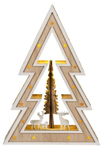 HGD Holz - Glas - Design LED - Weihnachtsbaum Country - Style kaufen