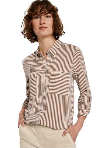 TOM TAILOR Hemdbluse, mit 2 quer gestreiften aufgesetzten Brusttaschen kaufen