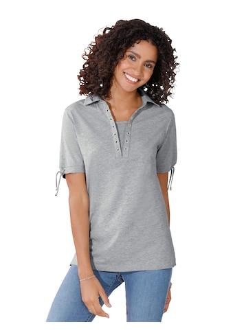 Classic Basics Poloshirt mit Ösen am Ausschnitt kaufen