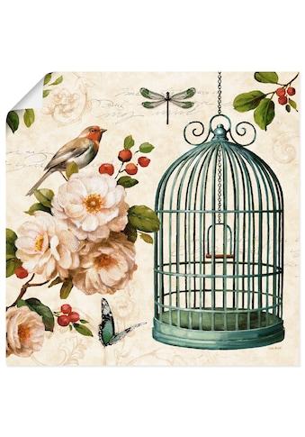 Artland Wandbild »Frei wie ein Vogel I«, Arrangements, (1 St.), in vielen Größen &... kaufen