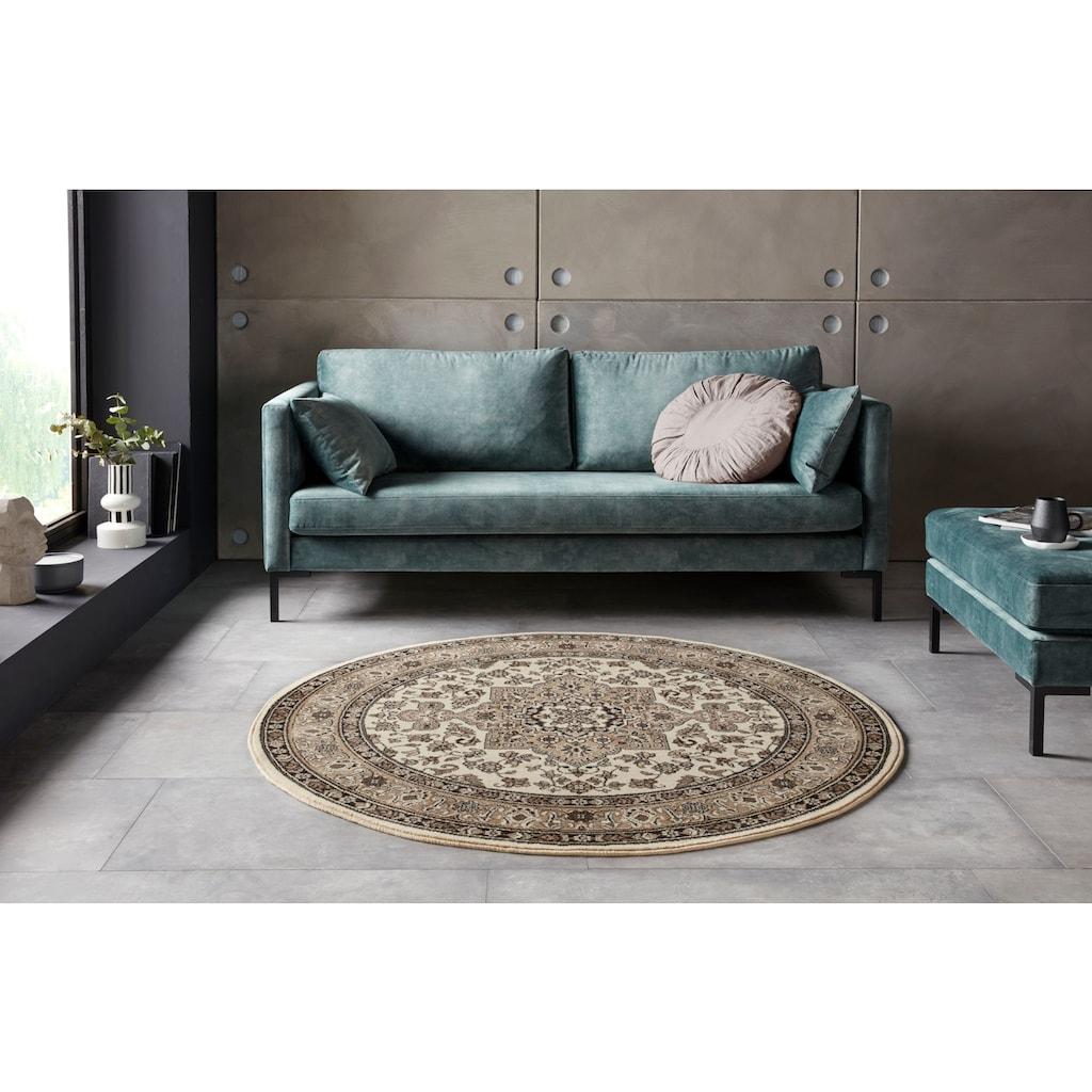 NOURISTAN Teppich »Parun Täbriz«, rund, 9 mm Höhe, Kurzflor, Orient-Optik, Wohnzimmer