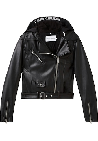 Calvin Klein Jeans Lederimitat - Blazer »FAUX LEATHER JACKET« kaufen