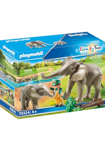 Playmobil® Konstruktions-Spielset »Elefanten im Freigehege (70324), Family Fun«, (17... kaufen