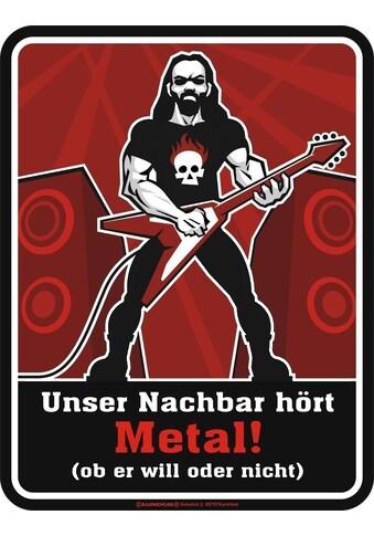 Rahmenlos Blechschild für Metal-Fans kaufen