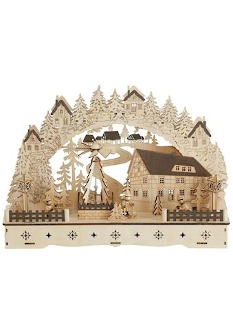 Schwibbogen »Fachwerkhaus«, mit bewegter Pyramide, 3D-Optik kaufen