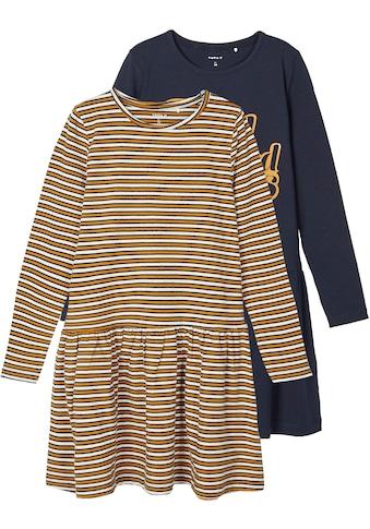 Name It Jerseykleid, (Packung, 2 tlg.), mit modischem Druck und angesagt gestreift kaufen