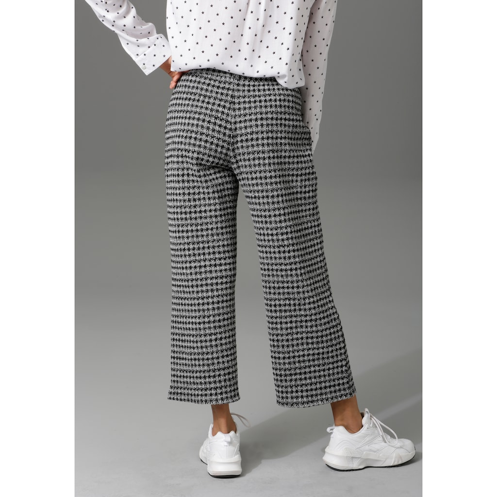 Aniston CASUAL Culotte, im Hahnentritt-Muster
