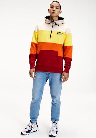 TOMMY JEANS Kapuzensweatshirt »TJM HALF ZIP COLORBLOCK HOODIE« kaufen