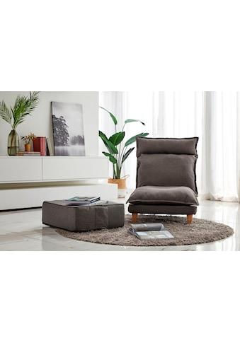 SalesFever Loungeset, (Set, 2 tlg., Sessel mit Hocker), mit Liegefunktion, Relaxsessel, Loungesessel kaufen