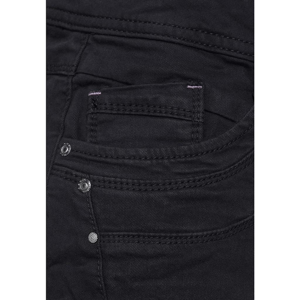 Cecil Comfort-fit-Jeans, mit Crash-Effekt