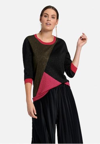 Emilia Lay Rundhalspullover »mit 3/4-Arm«, und Colour-Blocking kaufen