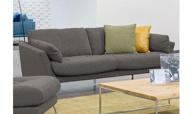 W.SCHILLIG 2,5-Sitzer »softy«, mit dekorativer Heftung im Sitz, Füße Chrom glänzend kaufen