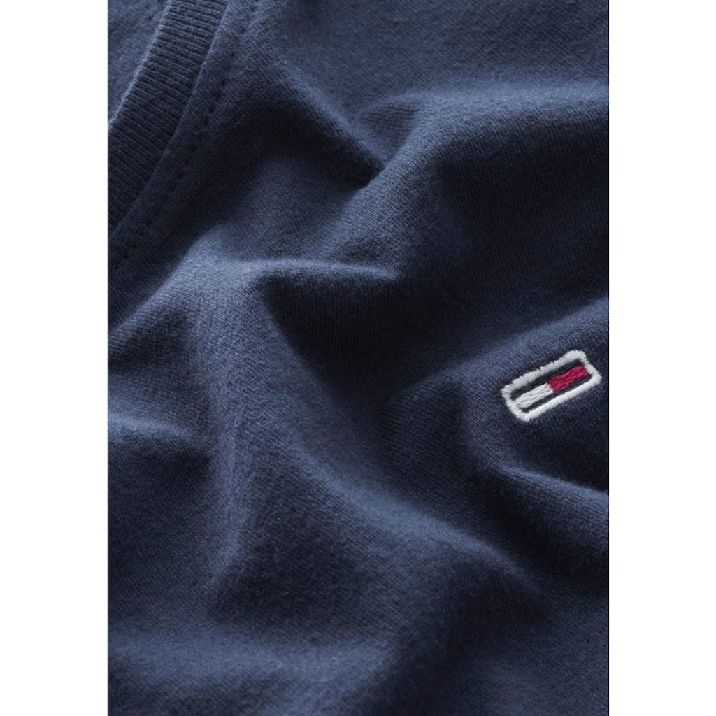 Tommy Jeans Rundhalsshirt »TJW SOFT JERSEY TEE«, mit Tommy Jeans Logo-Flag & Tommy Streifen im Halsausschnitt