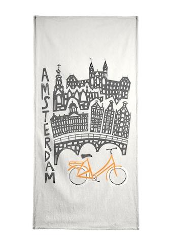 "Handtuch ""Amsterdam Cityscape"", Juniqe kaufen"