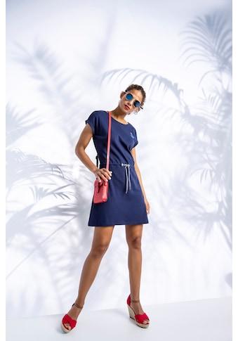 TOM TAILOR Polo Team Sommerkleid, mit Tunnelzug und kontrastfarbendem Bindeband kaufen