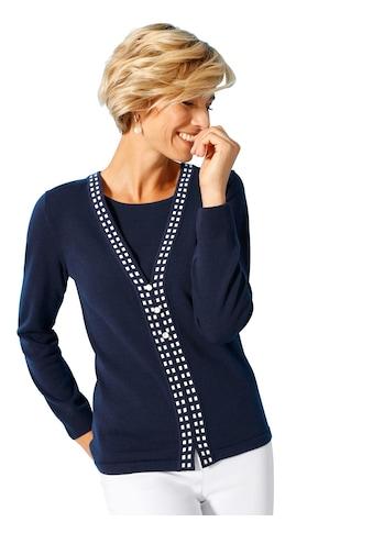 Classic Basics Pullover in stilvoller 2 - in - 1 - Optik kaufen