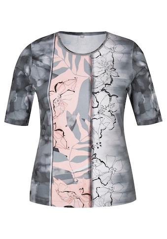Rabe Rundhalsshirt, in Batik-Optik mit Glitzer-Effekt kaufen