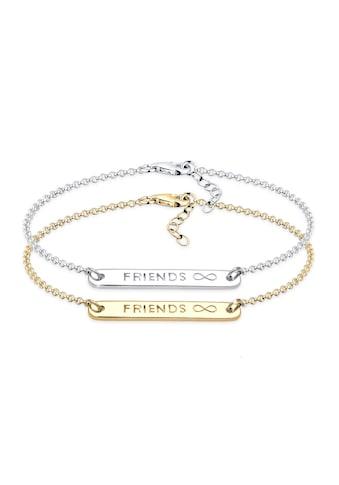 Elli Armband Set »Infinity Freundschaft Set Bi-Color Silber« kaufen