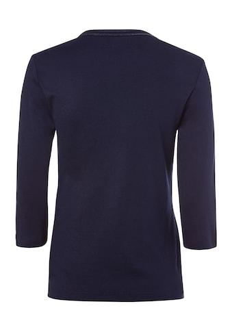 Olsen V-Shirt, mit dekorativen Steinchen am Ausschnitt kaufen