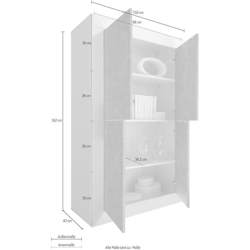LC Highboard »Basic«, Höhe 162 cm