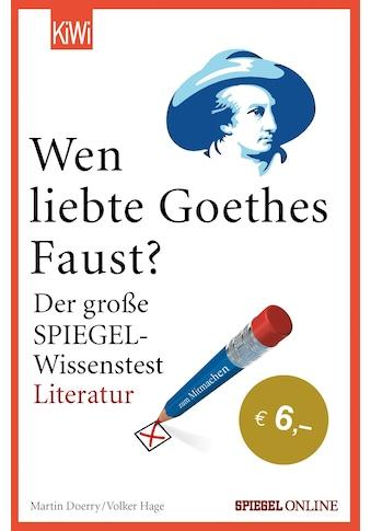 """Buch »Wen liebte Goethes """"Faust""""? / Martin Doerry, Volker Hage« kaufen"""
