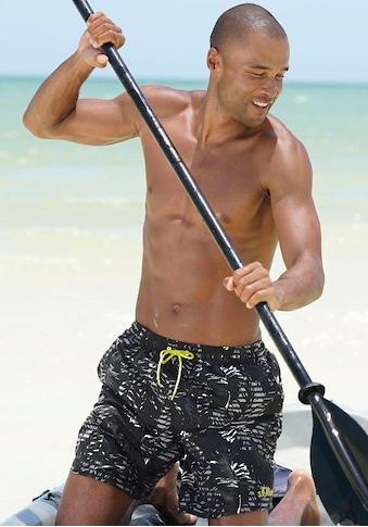 s.Oliver Beachwear Badeshorts, mit trendigem Palmenprint kaufen