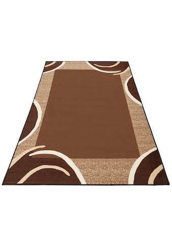 THEKO Teppich »Loures«, rechteckig, 6 mm Höhe, Kurzflor, mit moderner Bordüre, Wohnzimmer kaufen