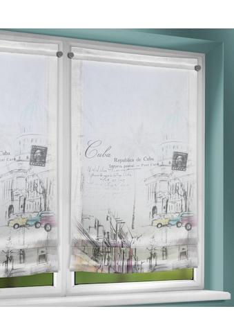 WILLKOMMEN ZUHAUSE by ALBANI GROUP Raffrollo »Cuba«, mit Stangendurchzug, Clipsrollo mit Beschwerungsstab kaufen