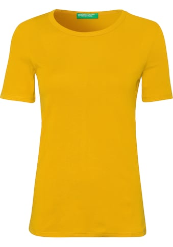 United Colors of Benetton T-Shirt, in feiner Rippenquialität kaufen