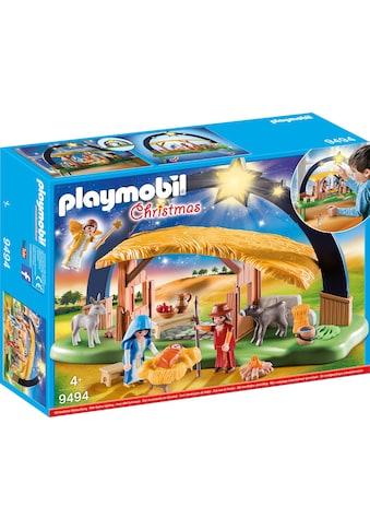 """Playmobil® Konstruktions - Spielset """"Lichterbogen Weihnachtskrippe (9494), Christmas"""", Kunststoff kaufen"""