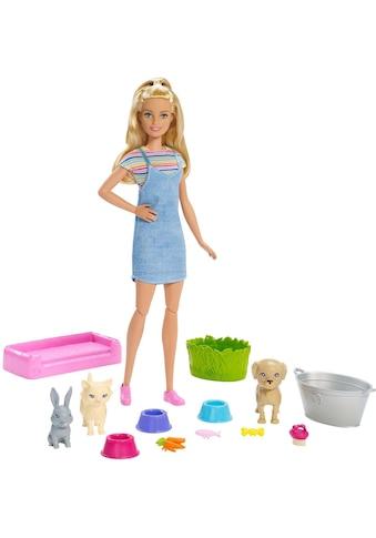 Barbie Anziehpuppe »Badespaß Spielset Tiere und Puppe« kaufen