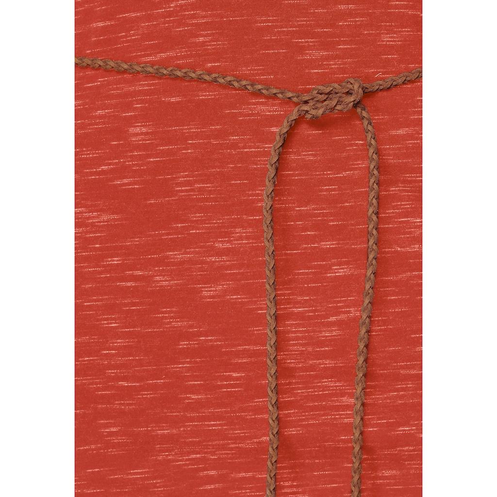 Ragwear Jerseykleid »TANYA SLUB«, (2 tlg., mit abnehmbarem Gürtel), PETA approved Vegan
