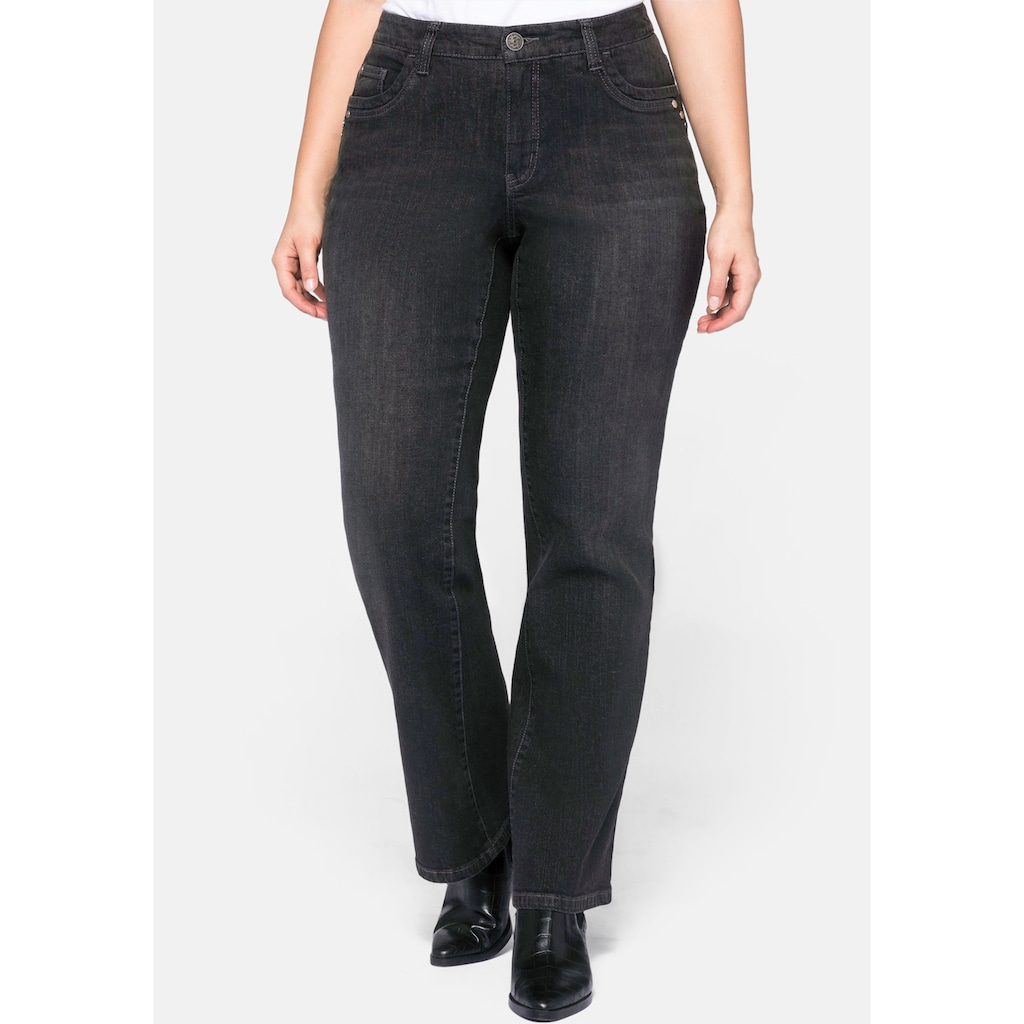 Sheego Bootcut-Jeans, VERENA mit Catfaces