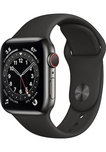 Apple Smartwatch »Apple Watch Series 6 GPS + Cellular, Edelstahlgehäuse, 40 mm mit Sportarmband«, ( ) kaufen